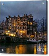 Amsterdam Corner Cafe Acrylic Print