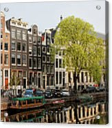 Amsterdam Houses Along The Singel Canal Acrylic Print