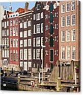 Amsterdam Houses Ar Sunset Acrylic Print
