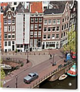 Amsterdam Houses From Above Acrylic Print