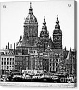 Amsterdam In Black And White Acrylic Print