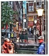 Amsterdam Saturday Night Acrylic Print