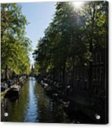 Amsterdam Spring - Green Sunny And Beautiful Acrylic Print