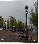 Amsterdam - The Yellow Umbrella Acrylic Print