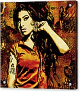 Amy Winehouse 24x36 Mm Reg Acrylic Print by Dancin Artworks