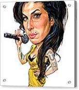 Amy Winehouse Acrylic Print by Art