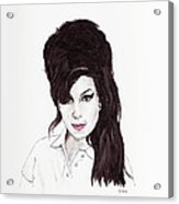 Amy Winehouse Acrylic Print by Martin Howard