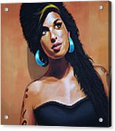 Amy Winehouse Acrylic Print by Paul Meijering