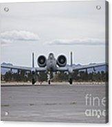 An A-10 Thunderbolt Taxis To The Runway Acrylic Print
