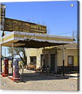 An Abandon Gas Station On Route 66 Acrylic Print