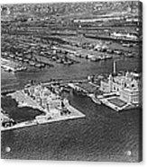 An Aerial View Of Ellis Island Acrylic Print