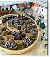 An Aerial View Of The Marina Bay Sands Hotel Lobby Singapore Acrylic Print
