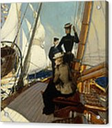 An Afternoon At Sea  Acrylic Print by Albert Lynch