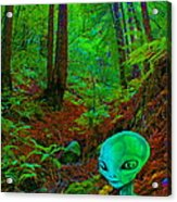 An Alien In A Cosmic Forest Of Time Acrylic Print