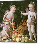 An Allegory Of Peace And Plenty Acrylic Print
