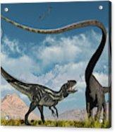 An Allosaurus In A Deadly Battle Acrylic Print