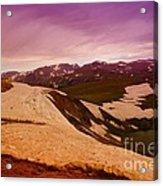 An Alpine Lake Near The Top Of Beartooth Pass  Acrylic Print
