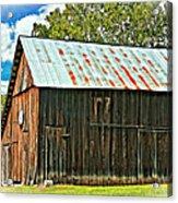 An American Barn 2 Oil Acrylic Print
