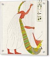 An Ancient Egyptian Priest Plays An Acrylic Print