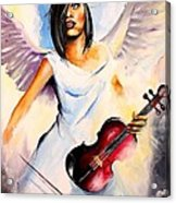 An Angel Performs Acrylic Print