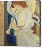An Angel Playing A Flageolet Acrylic Print