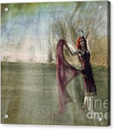 An Angel Was Dancing On The Hill Acrylic Print