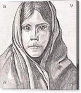 An Apache Daughter Acrylic Print
