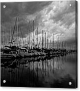 An Approaching Storm - Black And White Acrylic Print