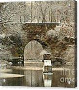 An Arched Stone Bridge Acrylic Print