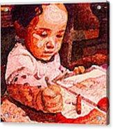 An Artist Is Born Acrylic Print