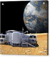 An Artists Depiction Of A Lunar Base Acrylic Print