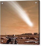 An Artists Depiction Of The Close Pass Acrylic Print by Marc Ward