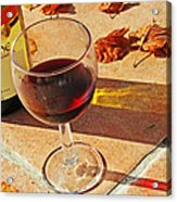 An Autumn Glass Of Red Acrylic Print