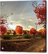 An Autumn Rainbow Acrylic Print