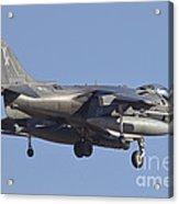An Av-8b Harrier II Flying Over Yuma Acrylic Print