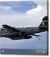 An Ea-6b Prowle In Flight Acrylic Print