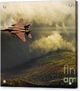 An Eagle Over Cumbria Acrylic Print by Meirion Matthias