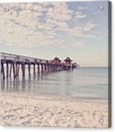 An Early Morning - Naples Pier Acrylic Print