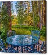 An Early Morning On The Deck At Cottonwood Cottage Acrylic Print