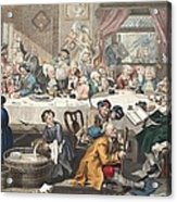 An Election Entertainment, Illustration Acrylic Print by William Hogarth