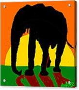 An Elephant And Sun Acrylic Print