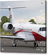 An Embraer Legacy 600 Private Jet Acrylic Print