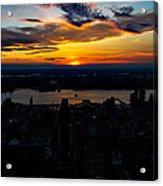 An Empire Sunset Acrylic Print