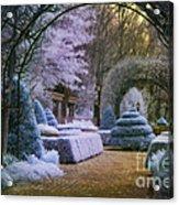 An English Garden Acrylic Print