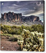 An Evening At The Superstitions Acrylic Print