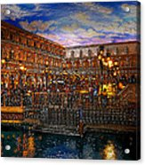 An Evening In Venice Acrylic Print by David Lee Thompson