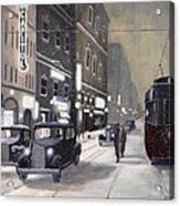 An Evening On Portage Avenue Acrylic Print