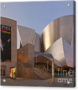 An Evening With Gustavo - Walt Disney Concert Hall Architecture Los Angeles Acrylic Print