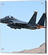 An F-15e Strike Eagle Taking Acrylic Print