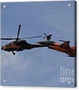 An F-16 Falcon And Ah-64 Apache Acrylic Print